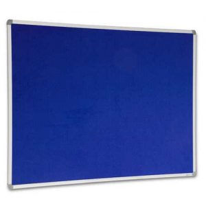 blue felt pin board