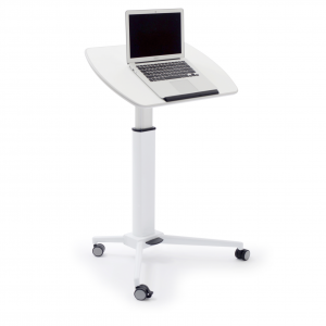 white adjustable height lectern