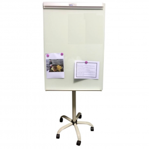 glass flip chart stand magnetic