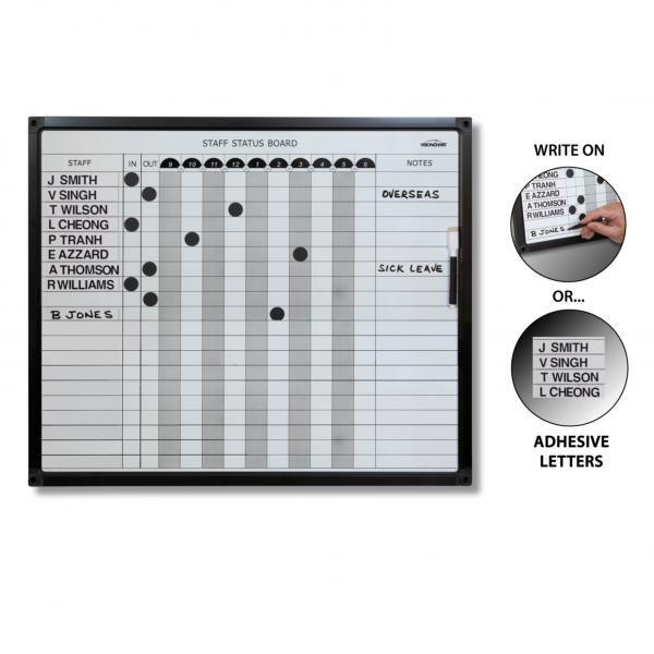 Staff Status Planner Board Whiteboards
